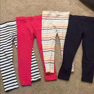 Girls leggings bundle size 4T